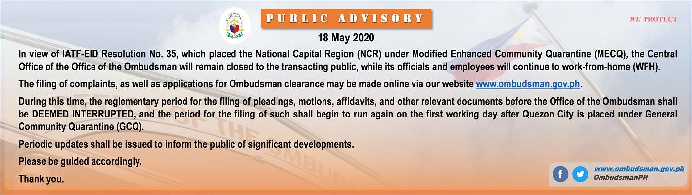 OMB-advisory-18 May 2020 – website – 1399x395pix