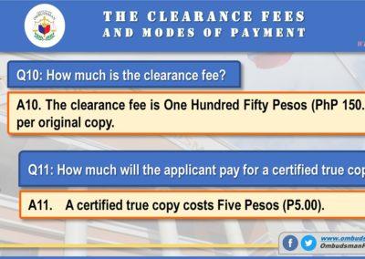 OMB Clearance Application FAQ Q10-Q11