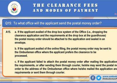OMB Clearance Application FAQ Q15