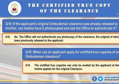 OMB Clearance Application FAQ Q18-Q19