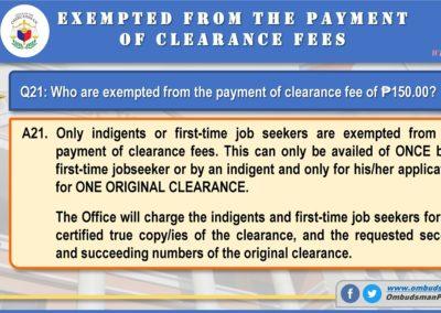 OMB Clearance Application FAQ Q21
