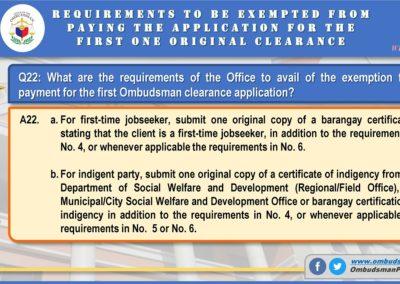 OMB Clearance Application FAQ Q22