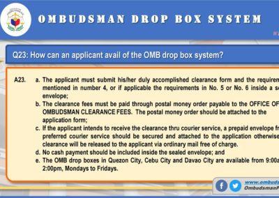 OMB Clearance Application FAQ Q23