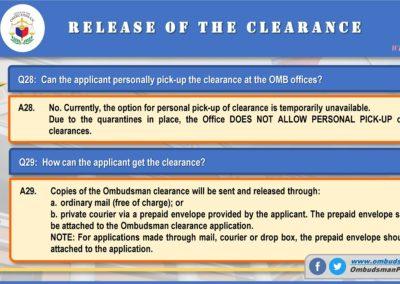 OMB Clearance Application FAQ Q28-Q29