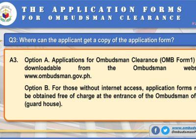 OMB Clearance Application FAQ Q3