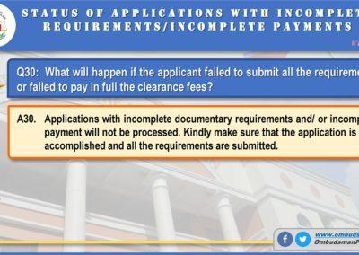 OMB Clearance Application FAQ Q30