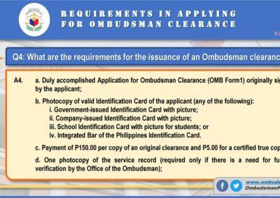 OMB Clearance Application FAQ Q4