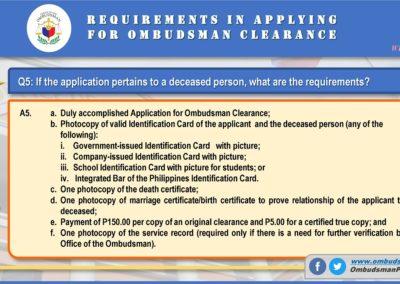 OMB Clearance Application FAQ Q5