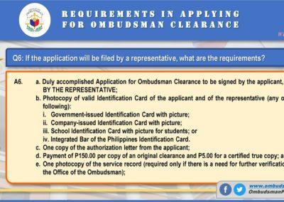 OMB Clearance Application FAQ Q6
